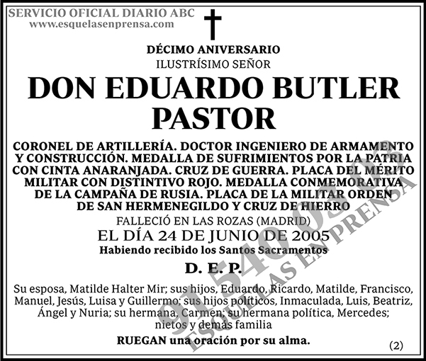 Eduardo Butler Pastor